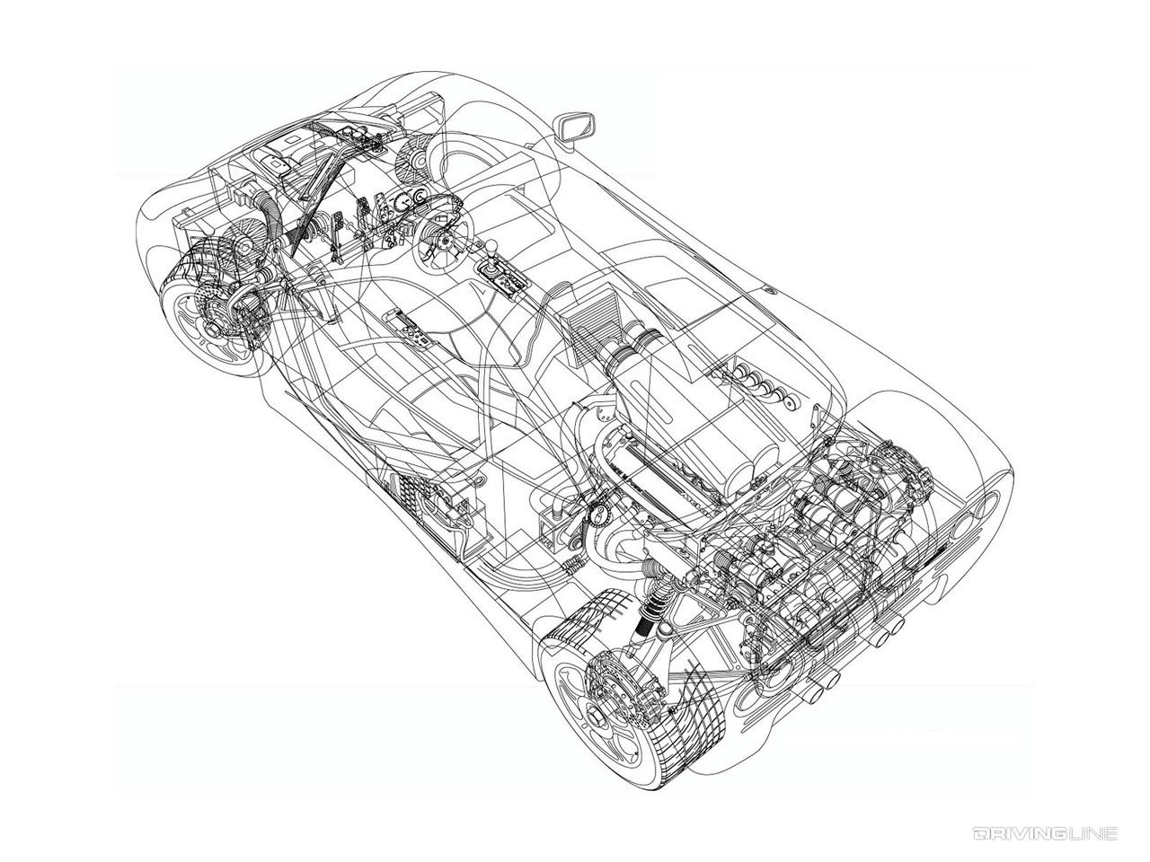 McLaren F1 cutaway
