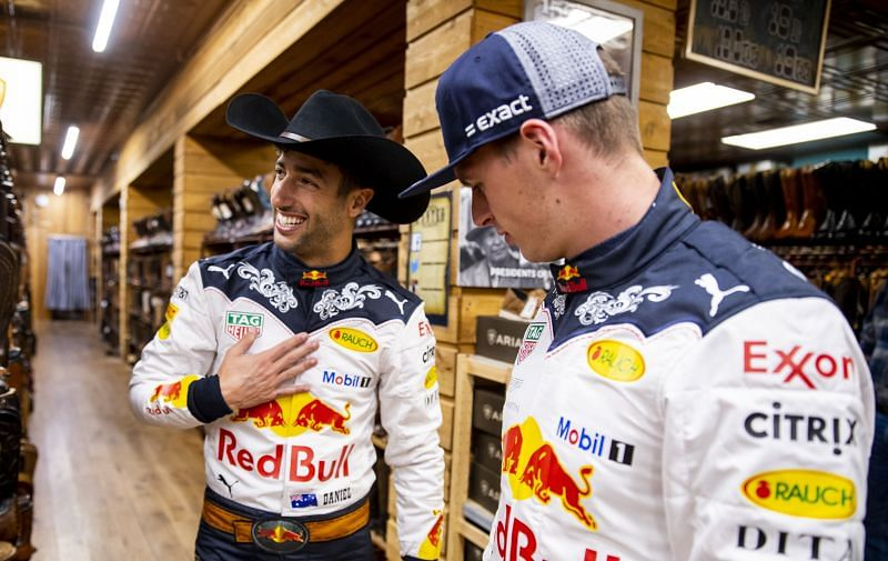 Ricciardo and Verstappen were teammates at Red Bull. Photo by Mark Thompson/Getty Images.