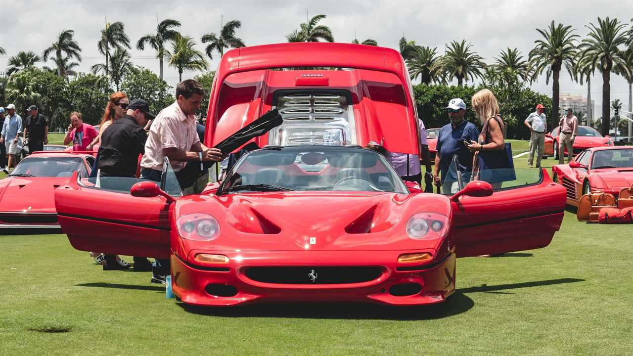 Ferraris valued at $ 500 million take center stage at Cavallino Classic