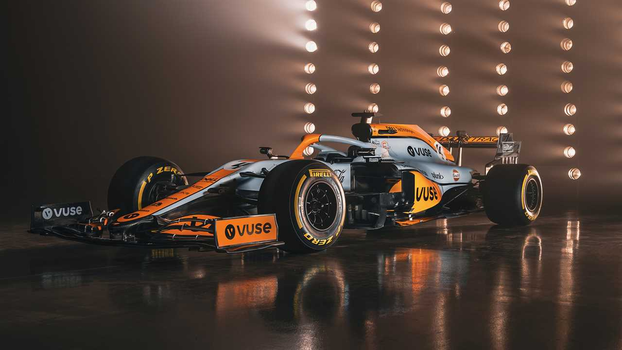 McLaren carries out a one-off paint job for the Monaco Grand Prix based on the legendary Golf color scheme